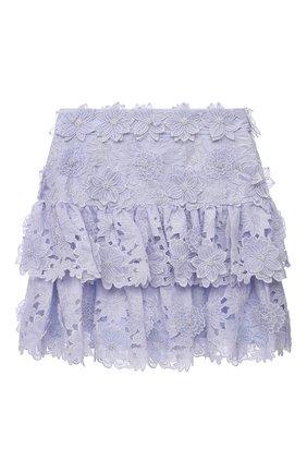 Женская льняная юбка ZIMMERMANN голубого цвета, арт. 9859SAND | Фото 1