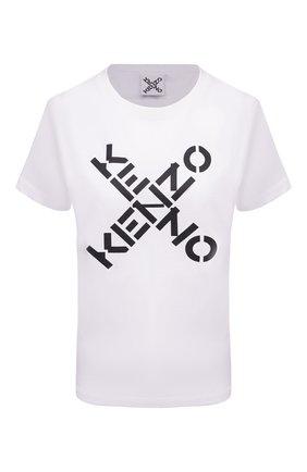 Женская хлопковая футболка kenzo sport KENZO белого цвета, арт. FB52TS8504SJ | Фото 1