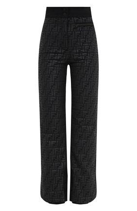 Женские брюки FENDI черного цвета, арт. FAB221 AEQX | Фото 1