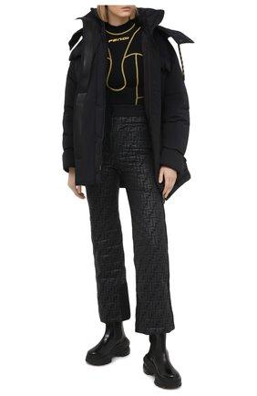 Женские брюки FENDI черного цвета, арт. FAB221 AEQX | Фото 2