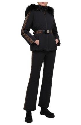 Женские брюки FENDI черного цвета, арт. FAB183 A8X1 | Фото 2