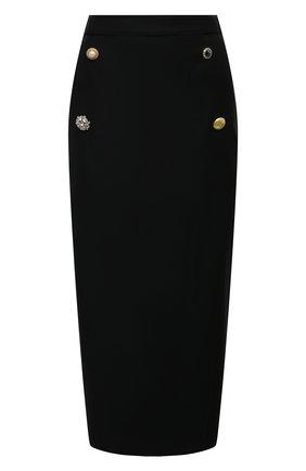 Женская шерстяная юбка VETEMENTS черного цвета, арт. WE51SK900B 1202/BLACK | Фото 1
