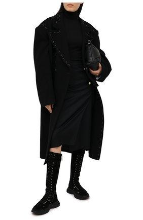 Женская шерстяная юбка VETEMENTS черного цвета, арт. WE51SK900B 1202/BLACK | Фото 2