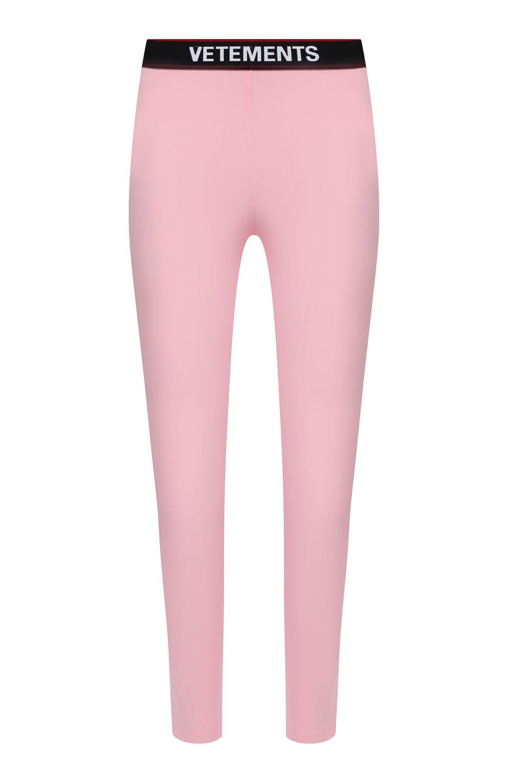 Женские леггинсы VETEMENTS розового цвета, арт. WE51PA640P 1332/BABY PINK | Фото 1