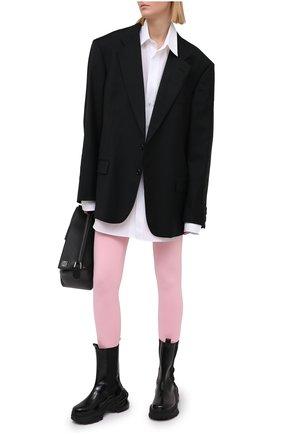 Женские леггинсы VETEMENTS розового цвета, арт. WE51PA640P 1332/BABY PINK | Фото 2