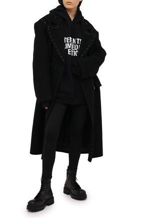 Женские леггинсы VETEMENTS черного цвета, арт. WE51PA640B 1332/BLACK | Фото 2
