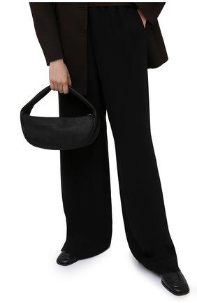 Женская сумка cush BY FAR черного цвета, арт. 21CRCSHSBLFLTMED   Фото 2
