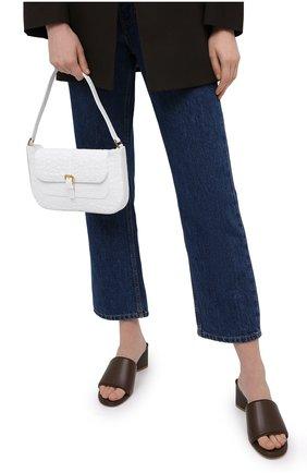 Женская сумка miranda BY FAR белого цвета, арт. 21CRMDASPWDMED   Фото 2