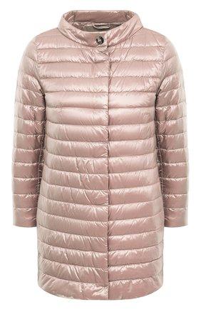 Женская пуховая куртка HERNO розового цвета, арт. PI0767DIC/12017 | Фото 1