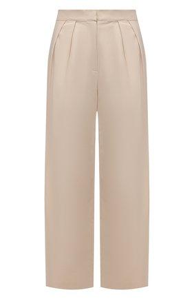 Женские хлопковые брюки A MERE CO бежевого цвета, арт. AMC-RSS21-47 | Фото 1