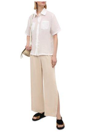 Женские хлопковые брюки A MERE CO бежевого цвета, арт. AMC-RSS21-47 | Фото 2