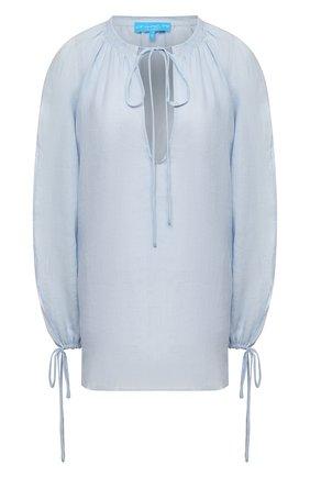Женская льняная блузка A MERE CO голубого цвета, арт. AMC-RSS21-40B | Фото 1