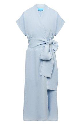 Женское льняное платье A MERE CO голубого цвета, арт. AMC-RSS21-35B | Фото 1