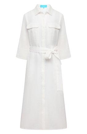 Женское льняное платье A MERE CO белого цвета, арт. AMC-RSS21-19W | Фото 1