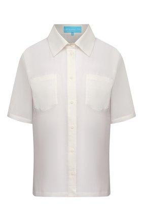 Женская льняная блузка A MERE CO белого цвета, арт. AMC-RSS21-15W | Фото 1