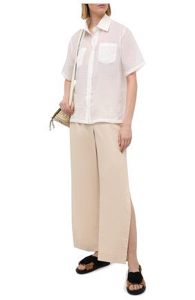 Женская льняная блузка A MERE CO белого цвета, арт. AMC-RSS21-15W | Фото 2