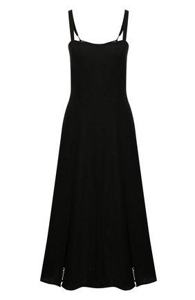 Женское льняное платье A MERE CO черного цвета, арт. AMC-RSS21-10BLBL | Фото 1