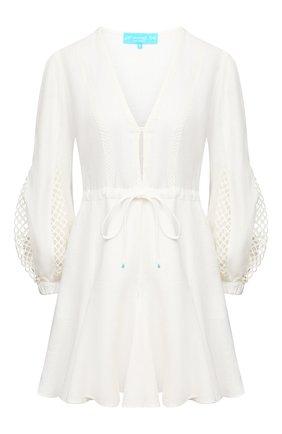 Женское льняное платье A MERE CO белого цвета, арт. AMC-RSS21-06WW | Фото 1
