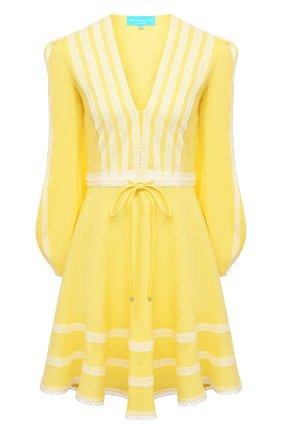 Женское льняное платье A MERE CO желтого цвета, арт. AMC-RSS21-01YW | Фото 1