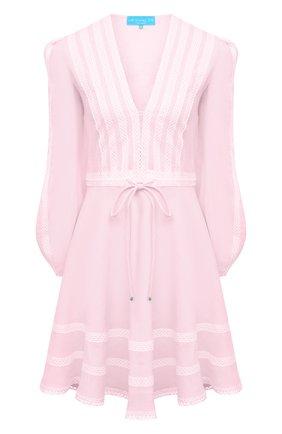 Женское льняное платье A MERE CO розового цвета, арт. AMC-RSS21-01PW | Фото 1
