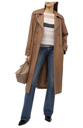 Женский кашемировый пуловер BRUNELLO CUCINELLI бежевого цвета, арт. M12180620 | Фото 2