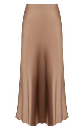 Женская юбка NANUSHKA темно-бежевого цвета, арт. RAZI_SANDST0NE_SLIP SATIN | Фото 1