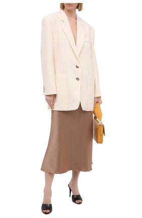 Женская юбка NANUSHKA темно-бежевого цвета, арт. RAZI_SANDST0NE_SLIP SATIN | Фото 2
