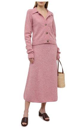 Женская юбка NANUSHKA розового цвета, арт. RAZI_WASHED PINK_FLUFFY KNIT | Фото 2