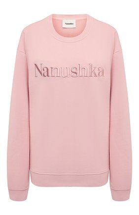 Женский хлопковый свитшот NANUSHKA розового цвета, арт. REMY_PINK_0RGANIC FLEECE | Фото 1