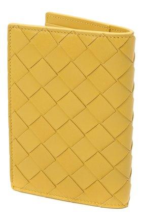 Женские кожаная обложка для паспорта BOTTEGA VENETA желтого цвета, арт. 608061/VCPP2 | Фото 2