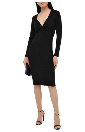 Женское платье из кашемира и шелка TOM FORD черного цвета, арт. ACK254-YAX087   Фото 2
