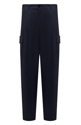 Мужские хлопковые брюки-карго GIORGIO ARMANI темно-синего цвета, арт. 1SGPP0GT/T02EY | Фото 1