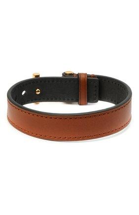 Мужской кожаный браслет TOM FORD светло-коричневого цвета, арт. JM0002T-CALBR | Фото 2