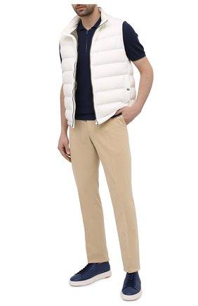 Мужские кожаные кеды SANTONI синего цвета, арт. MBCD21430BARCMMDU31 | Фото 2