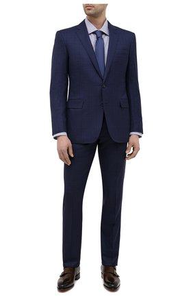 Мужские кожаные монки SANTONI темно-коричневого цвета, арт. MCCR11652MC1HVVDT50 | Фото 2 (Материал внутренний: Натуральная кожа; Стили: Классический)