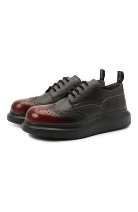 Мужские кожаные дерби ALEXANDER MCQUEEN черного цвета, арт. 586200/WHRQ4 | Фото 1 (Мужское Кросс-КТ: Броги-обувь; Стили: Классический; Материал внутренний: Натуральная кожа)