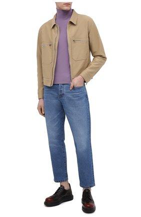 Мужские кожаные дерби ALEXANDER MCQUEEN черного цвета, арт. 586200/WHRQ4 | Фото 2 (Мужское Кросс-КТ: Броги-обувь; Стили: Классический; Материал внутренний: Натуральная кожа)