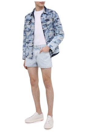 Мужские джинсовые шорты ISABEL MARANT голубого цвета, арт. SH0339-21P017H/JACKEN | Фото 2