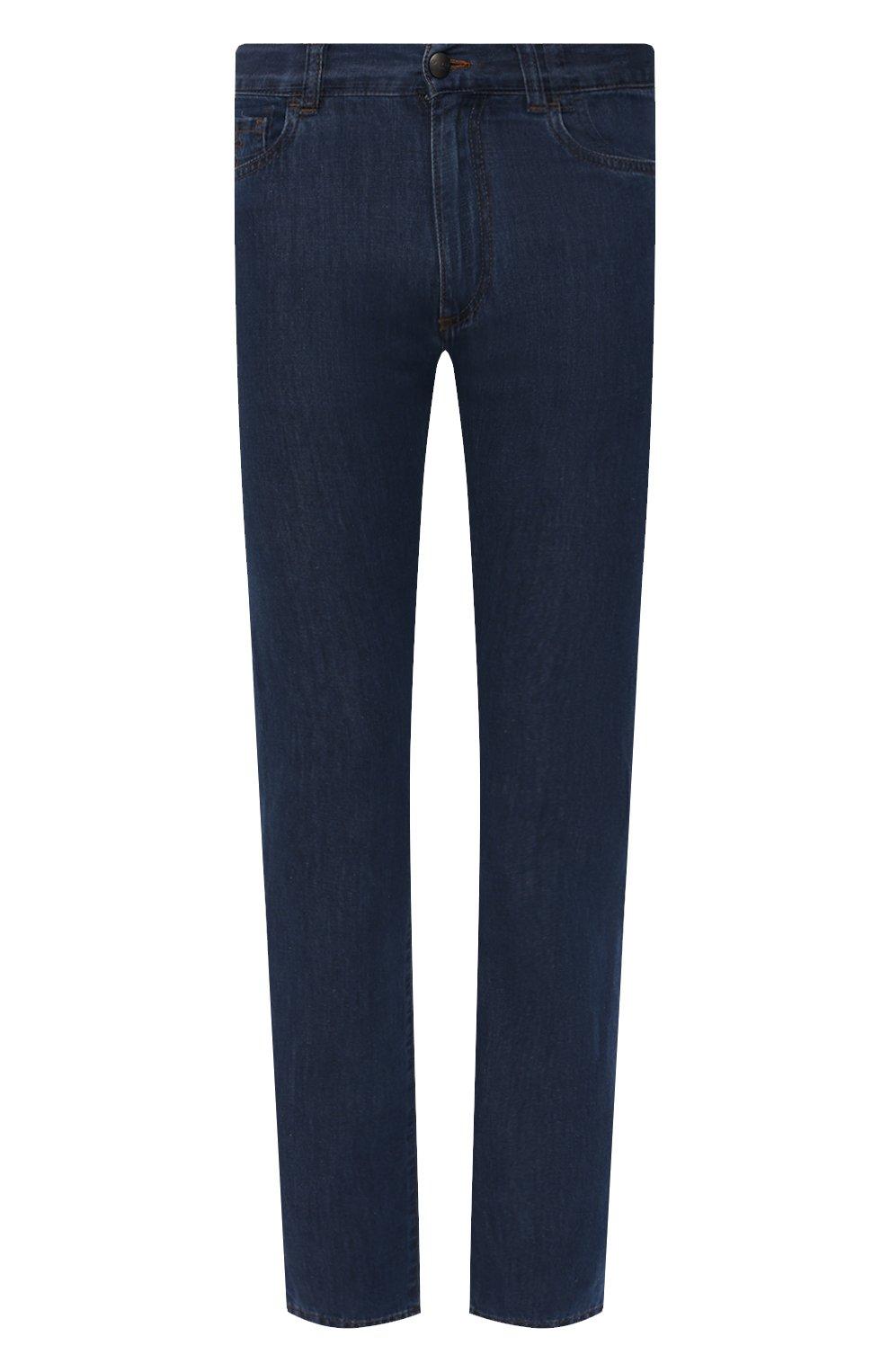 Мужские джинсы CANALI темно-синего цвета, арт. 91700R/PD00621 | Фото 1