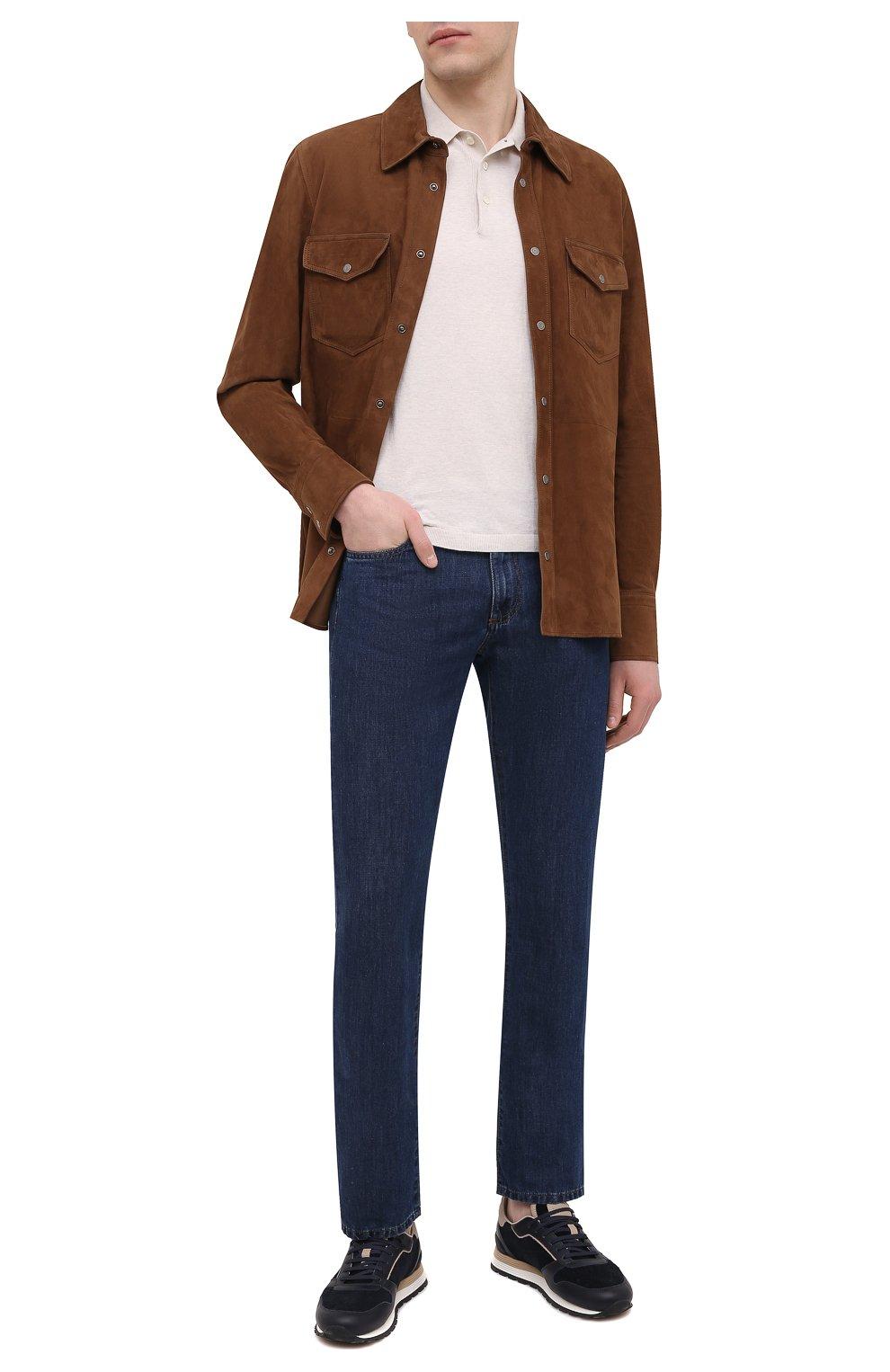 Мужские джинсы CANALI темно-синего цвета, арт. 91700R/PD00621 | Фото 2