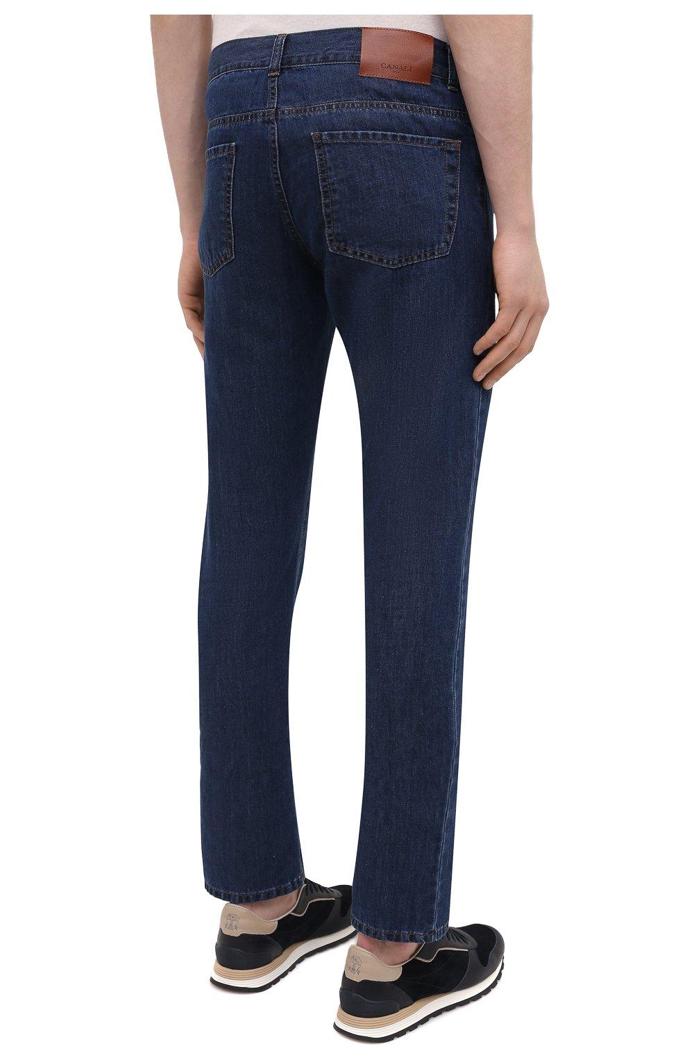 Мужские джинсы CANALI темно-синего цвета, арт. 91700R/PD00621 | Фото 4