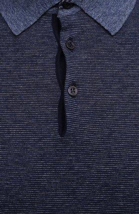 Мужское хлопковое поло CANALI темно-синего цвета, арт. C0780/MK01140 | Фото 5
