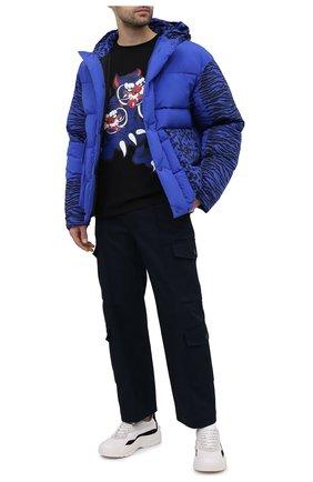 Мужские хлопковые брюки-карго KENZO темно-синего цвета, арт. FB55PA3349CT | Фото 2
