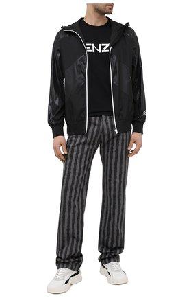 Мужская хлопковая футболка KENZO черного цвета, арт. FA65TS0004SJ | Фото 2 (Длина (для топов): Стандартные; Материал внешний: Хлопок; Рукава: Короткие; Стили: Гранж; Принт: С принтом)