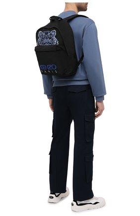 Мужской текстильный рюкзак KENZO черного цвета, арт. FA65SF300F20 | Фото 2