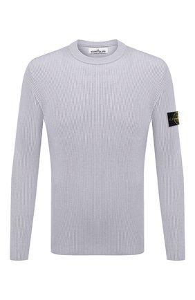 Мужской хлопковый свитер STONE ISLAND серого цвета, арт. 7415552D8   Фото 1