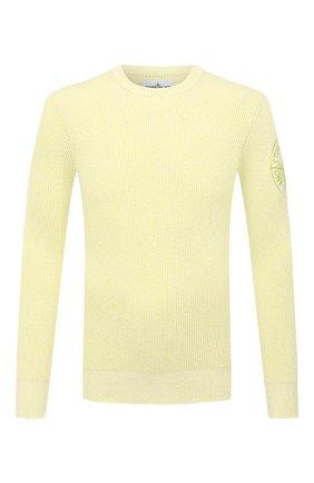 Мужской хлопковый свитер STONE ISLAND светло-зеленого цвета, арт. 7415507B1 | Фото 1 (Стили: Кэжуэл; Длина (для топов): Стандартные; Рукава: Длинные; Материал внешний: Хлопок; Мужское Кросс-КТ: Свитер-одежда; Принт: Без принта)