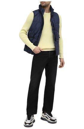 Мужской хлопковый свитер STONE ISLAND светло-зеленого цвета, арт. 7415507B1 | Фото 2 (Стили: Кэжуэл; Длина (для топов): Стандартные; Рукава: Длинные; Материал внешний: Хлопок; Мужское Кросс-КТ: Свитер-одежда; Принт: Без принта)