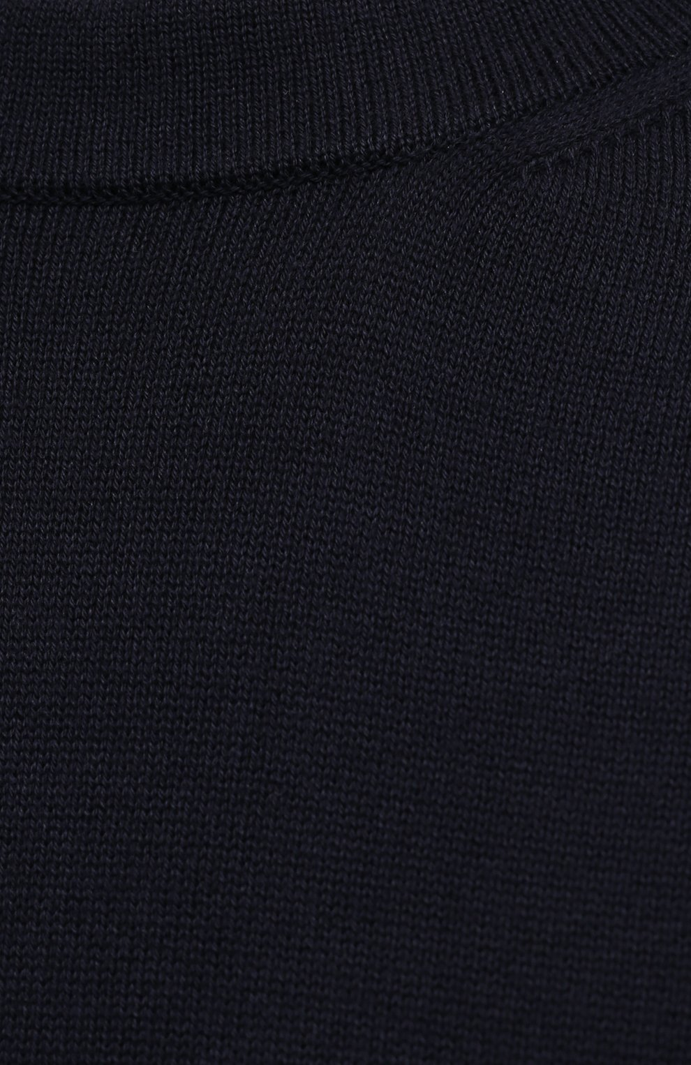 Мужской хлопковый джемпер STONE ISLAND темно-синего цвета, арт. 7415504B2 | Фото 5 (Мужское Кросс-КТ: Джемперы; Рукава: Длинные; Принт: Без принта; Длина (для топов): Стандартные; Материал внешний: Хлопок; Вырез: Круглый; Стили: Кэжуэл)