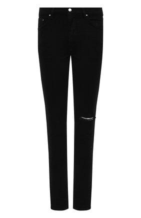 Мужские джинсы AMIRI черного цвета, арт. MDS002-001 | Фото 1 (Силуэт М (брюки): Узкие; Длина (брюки, джинсы): Стандартные; Стили: Гранж; Материал внешний: Хлопок; Кросс-КТ: Деним)